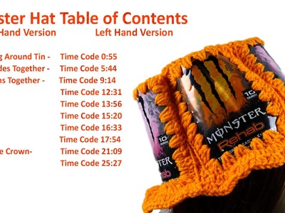 Crochet Can Hat Table of Contents - Crochet Geek