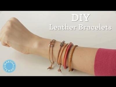 DIY Bohemian Leather Bracelet - Martha Stewart