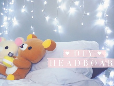 DIY Bokeh Sparkle Christmas Light Headboard or Backdrop
