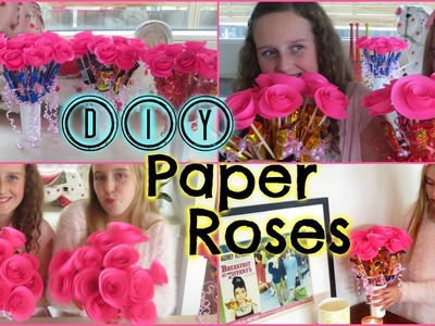 DIY Easy Paper Roses – Mothers Day or Birthday Gift