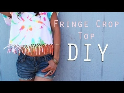 DIY Fringe Knot Crop Top