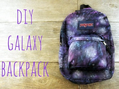 DIY Galaxy Backpack For Back To School