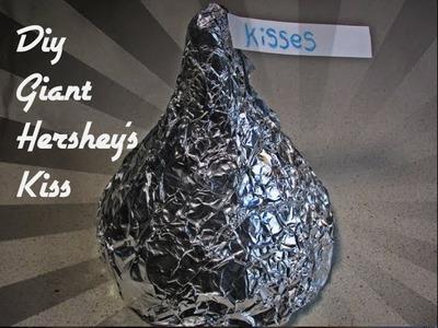 DIY Giant Hershey's Kiss   RiceKrispie Treat   Valentines Gift