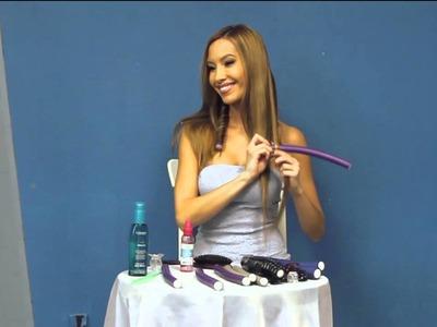 DIY Heatless Curls Hair Tutorial on Model Talk Monday