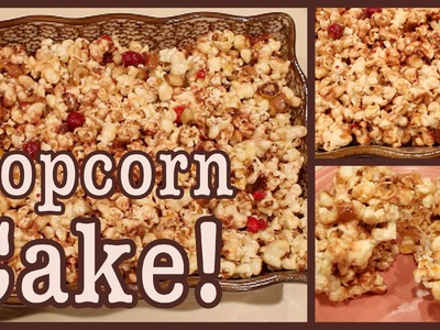 DIY How to Make Popcorn Cake!
