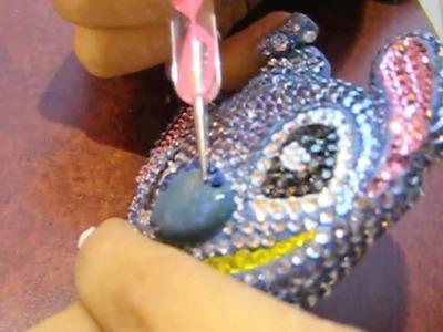 DIY Japanese Deco-Den Tutorial: Bling Bling Stitch KeyChain