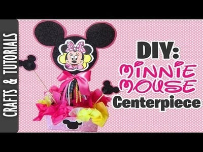 DIY: Minnie Mouse Centerpiece (EASY TUTORIAL)