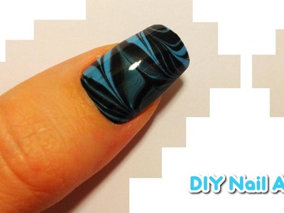 ★ DIY Nail Art ★ Water Marble Tutorial ★ BABY BLUE TIGER STRIPES