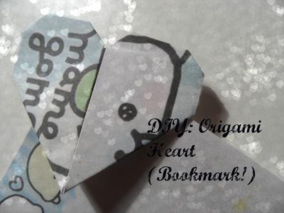 DIY: Origami Heart! (Bookmark)