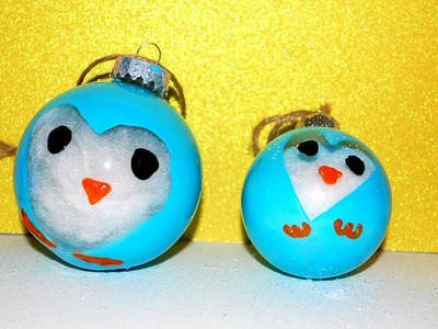 DIY Penguin Ornaments! DIY CHRiSTMAS ORNAMENTS for kids