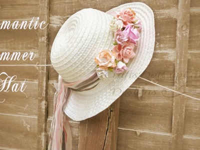 DIY Romantic Floral Summer Hat