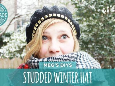 DIY Studded Winter Hat - HGTV Handmade