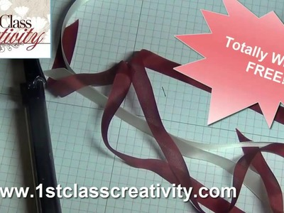 Fast and  Easy Way to Un Wrinkle and Flatten out Craft Ribbon