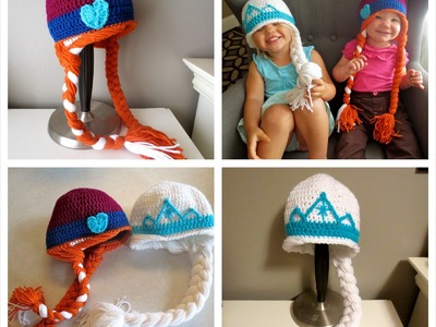 For Brylee: Frozen Inspired Anna & Elsa Crochet Hat Tutorial