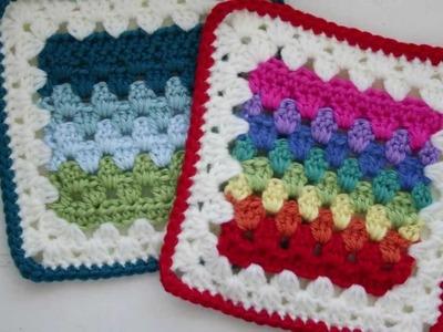 Granny Stripes Squared Crochet Pattern