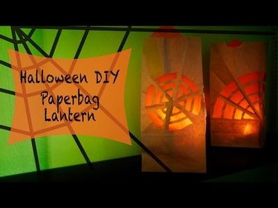 Halloween Easy DIY *Spider Web Paperbag Lantern in 3 Minutes!*