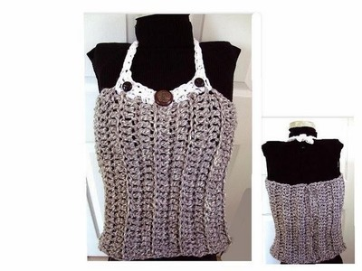 How to crochet a tube top (white yoke), women, children, teens