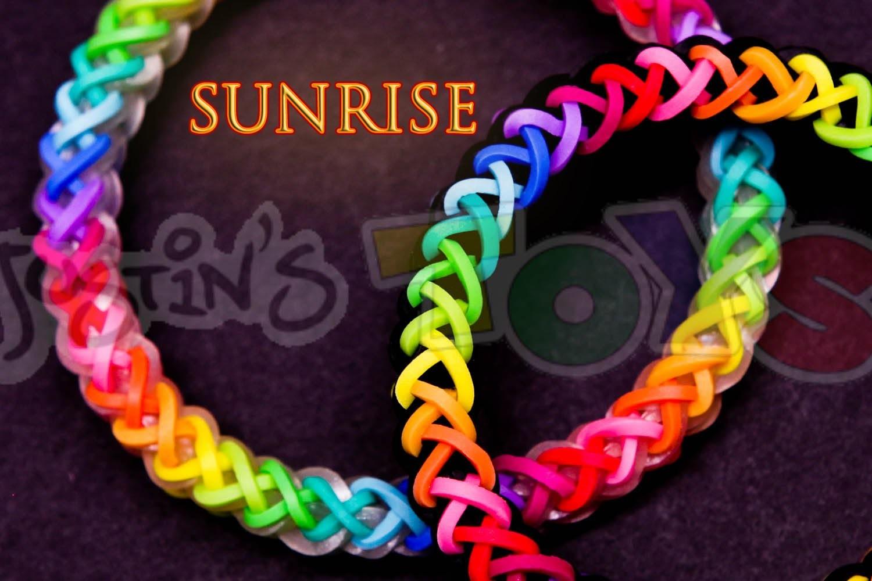 How to Make a Sunrise #justinstoyshybrid Rainbow Loom Bracelet Tutorial