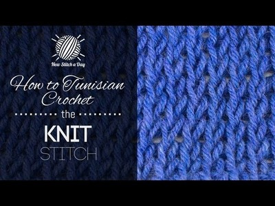 How to Tunisian Crochet the Knit Stitch (Left Handed)