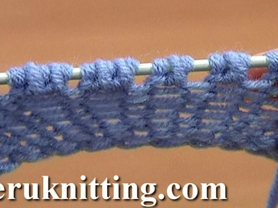 Increase Purl 1 Yarn Over Purl 1 Tutorial 8 Part 10 of 14 Five-Stitches Increase Into Same Stitch