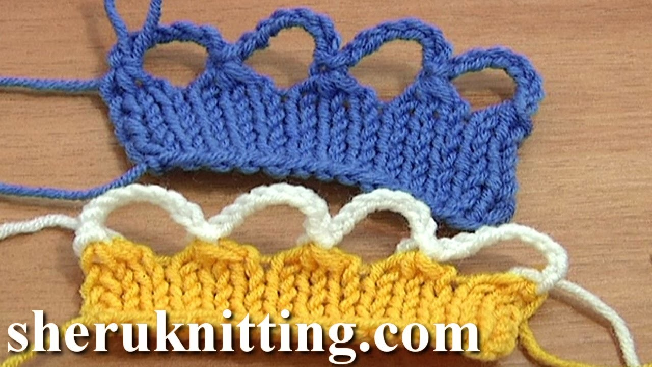Knit Crochet Bind Off Cast Off Tutorial 7 Part 9 of 12 Foundation for Crochet Edging