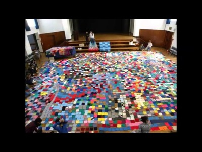 Knitting squares for charity: RCL 2014