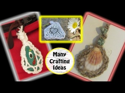Lots of Craft Ideas For: Wind Chimes, Painted Rocks, Seashells, Coins