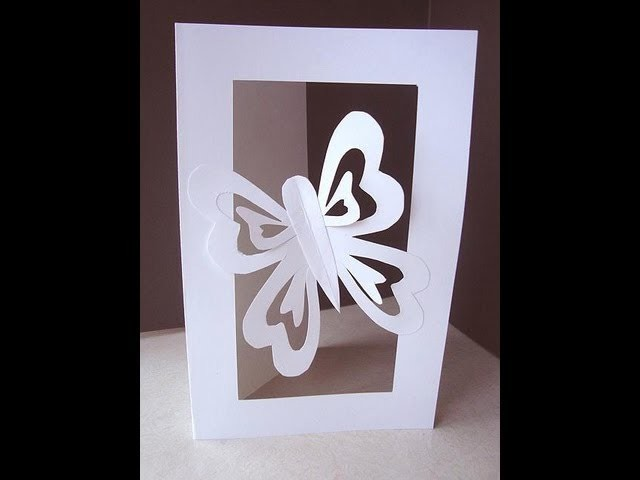MAKE A BUTTERFLY CUT-OUT CARD.
