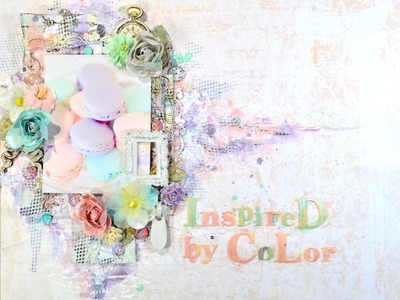 ❤Mixed Media Scrapbook Layout: Inspired By Color (Tutorial)