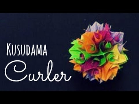 Origami Ball. Kusudama curler instructions (Herman Goubergen)