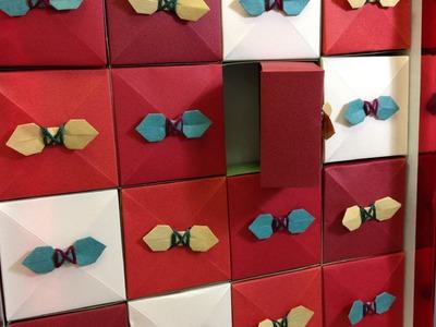 Origami Box Christmas Advent Calendar Decoration