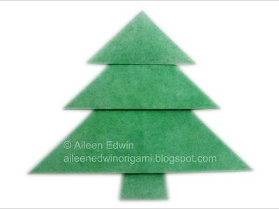 Origami Christmas Tree (Aileen Edwin) Video Tutorial *HD*