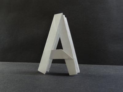 """Origami Tutorial - How to fold Alphabet """"A"""""""