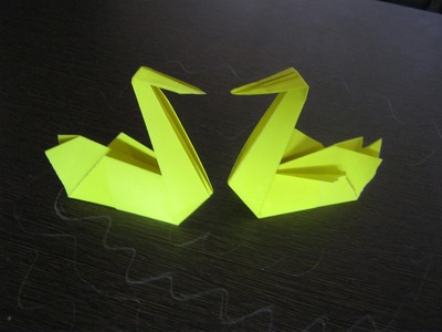 Origami Tutorial - How To Make A Paper Swan Origami Step By Step