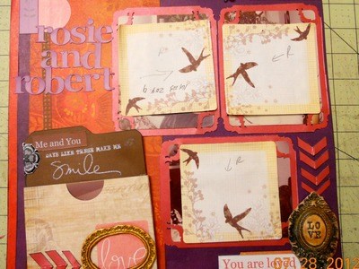 Scrapbook layout using a pocket for extra photos