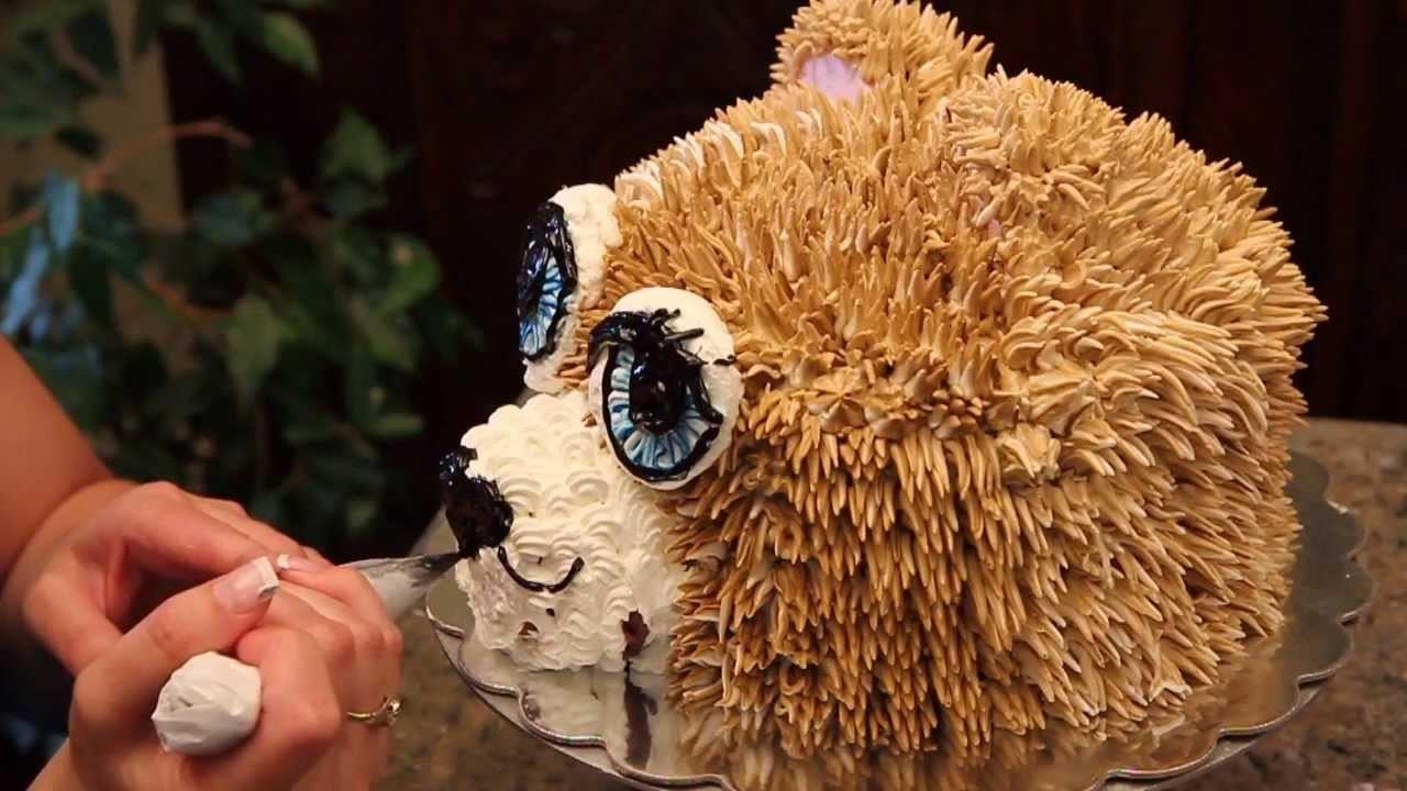 Teddy Bear Cake - How to Decorate a Teddy Bear Head Cake- Cake Decorating
