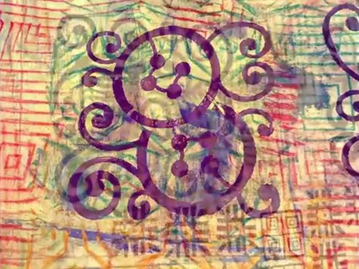 Textile Art - Craft Ideas - Block printing & Markal sticks