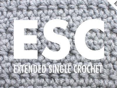 The Extended Single Crochet :: Crochet Abbreviation :: Right Handed