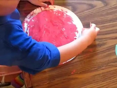 Toddler.Preschool Craft: Paper plate apple (Letter A week!)