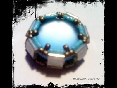 Tutorial come incastonare un cabochon soft touch con tila beads how to bezel