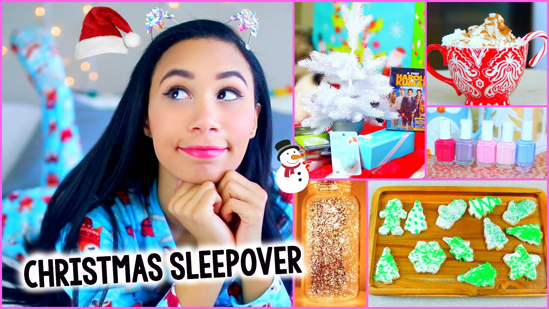 What To Do On Christmas! :Decor, Treats, Outfit + More for a DIY Holiday Sleepover!