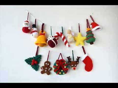 14 Christmas Ornaments - Crochet Christmas Decorations - Pattern Presentation
