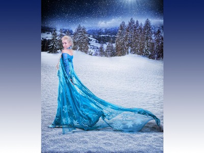 Amazing Frozen Queen Elsa Dress Costume DIY Tutorial