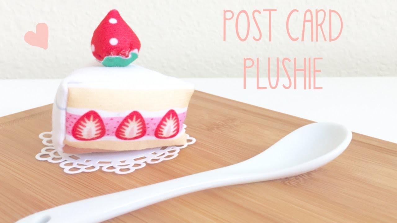 AMAZING POSTCARD turns into Strawberry Cake Plushie - DIY Tutorial