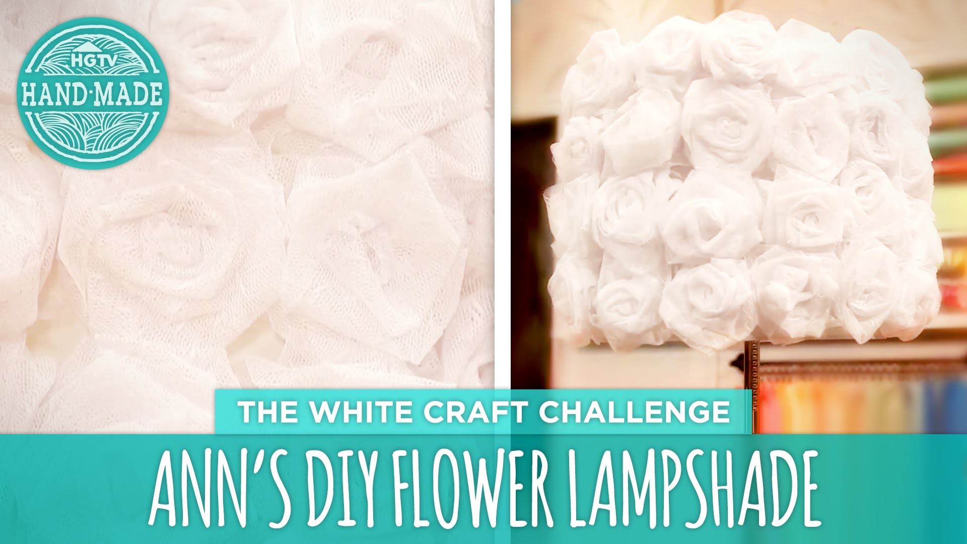 Ann's DIY Flower Lamp - HGTV Handmade White Craft Challenge