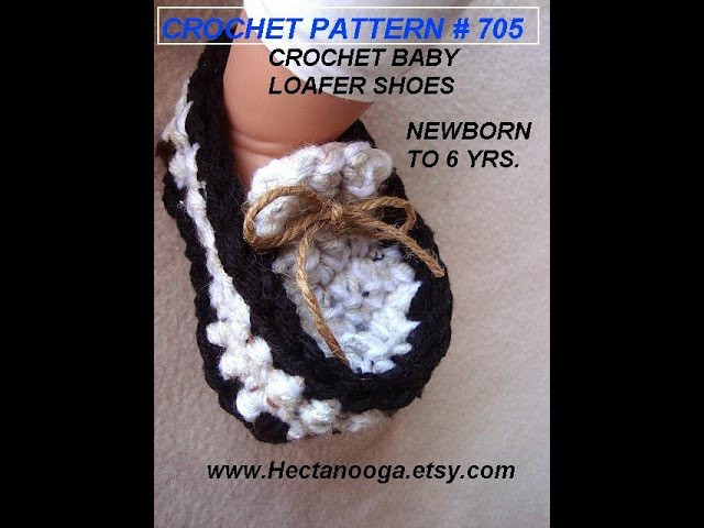 BABY LOAFERS BOOTIES, age 1 year, CROCHET PATTERN, video tutorial, how to diy, baby shoes