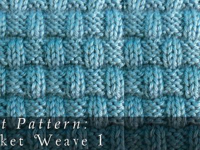 Basket Weave 1 | Knit Pattern