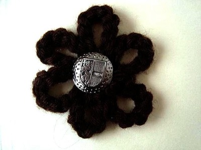 BEGINNER CROCHET, 6 LOOP FLOWER, crochet flower pattern