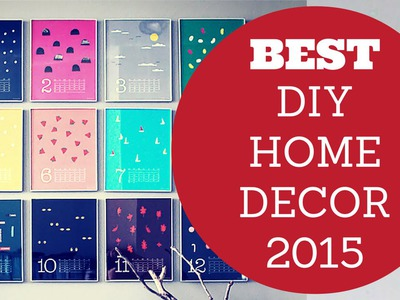Best DIY Home Decor Ideas 2015 - Bedroom, Living Room, Bathroom, Kitchen, Outdoor Inspiration and Mo