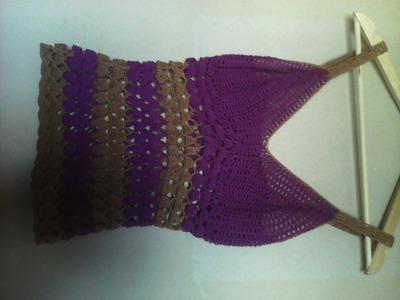 Blusa tejida a crochet parte 1
